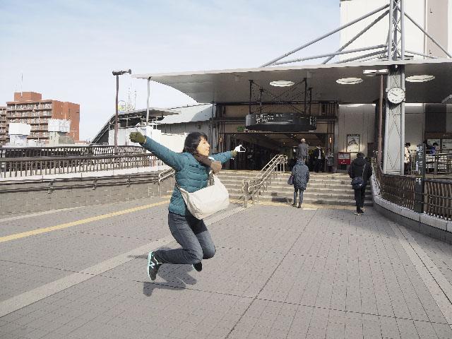 三鷹駅と、ひな